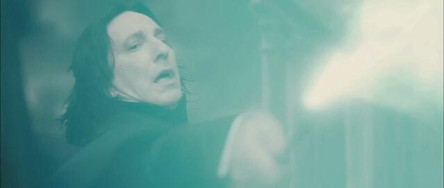 File:Severus Snape casting the Killing Curse on Albus Dumbledore.jpg