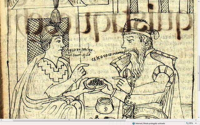 File:GPA371 Drawing147 - El Ynga pregunta al español qué come - El español responde -Este oro comemos.jpg