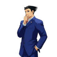 PXZ2 Phoenix Wright (full) - thinking (left)