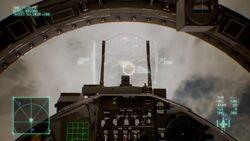Ace Combat 7 Cockpit HUD