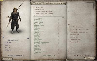 Veteran Westerlands Longbowman