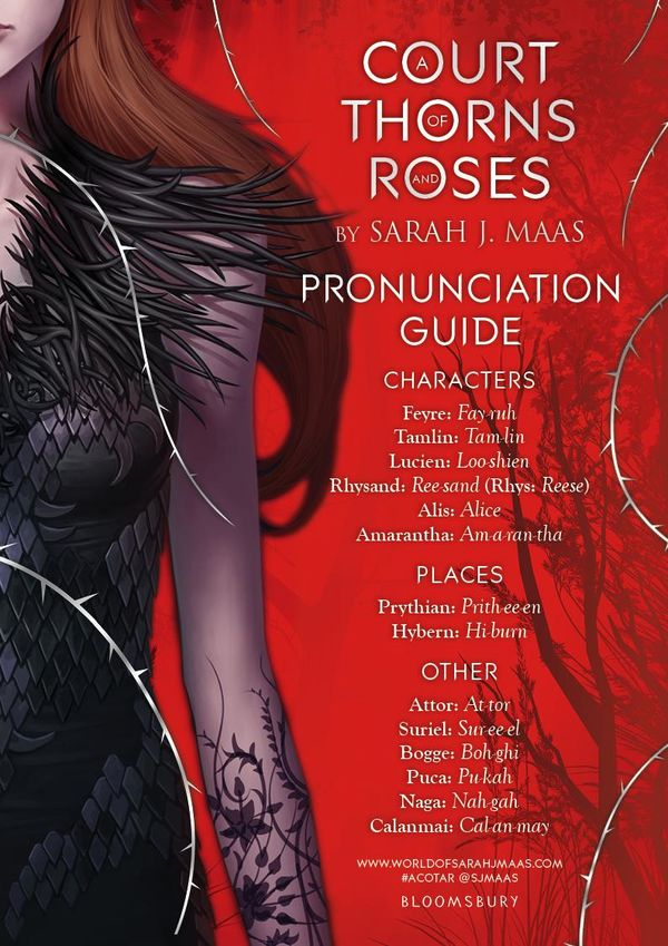 A Court of Thorns and Roses Pronunciation Guide