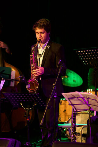 File:Emile Ryjoch playing with the Mike Stewart Big Band at the Adelaide Music Collective Jazz Hall of Fame Induction Night.jpg