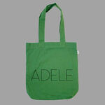 Adele dog green tote bag