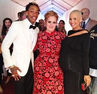 Adele and Wiz Khalifa