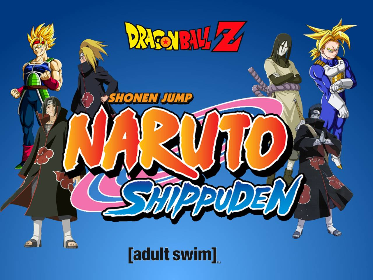 Image dragon ball z and naruto shippuden on adult swim - Naruto and dragonball z ...