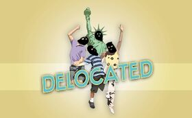 Delocated logo
