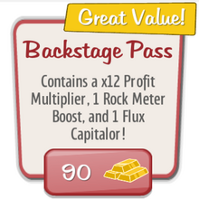 Special Event Item Backstage Pass