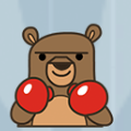 Boxing Bear Badge