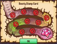 Bounty stamp card