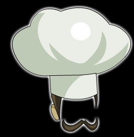 Mustached Chef Hat