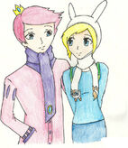 Winter time with fionna and prince gumball by fragile star-d4ogdzs