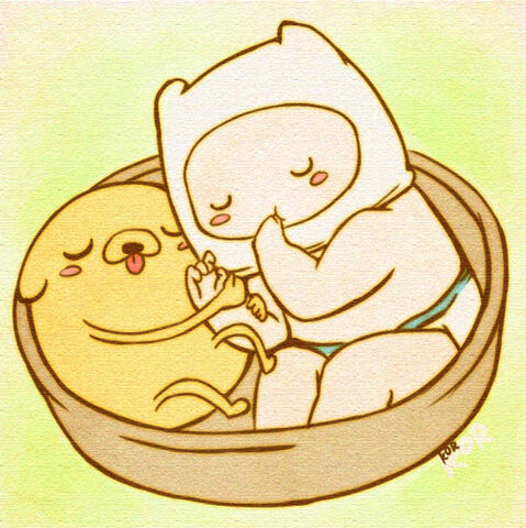 File:Baby finn and jake from adventure time by xxlostxkittenxx-d4r7sk1.jpg