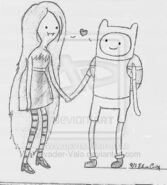 Marceline and finn by invader valo-d2y73ni