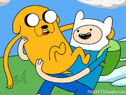 Adventure time finn and jake by nightsfankevin-d2nisj2