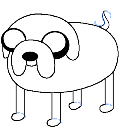 File:5-how-to-draw-jake-the-dog-finished-color.png
