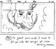 Party god sketch frame