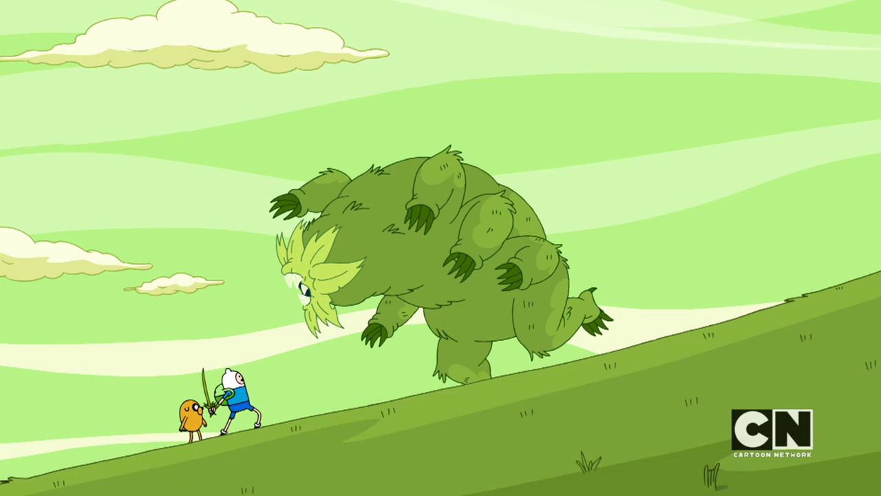 Image - S05e45 Finn about to fight the monster.png ... Water Bear Size Comparison