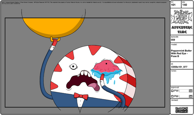 File:Modelsheet Peppermint Butler with Red Eye - Pose B.png