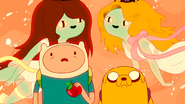 S3e25 Finn, Jake, and Fruit Babes