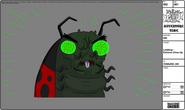 Modelsheet ladybug extremecloseup