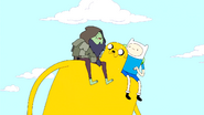 S3e3 Jake carrying Finn and Rag Wizard