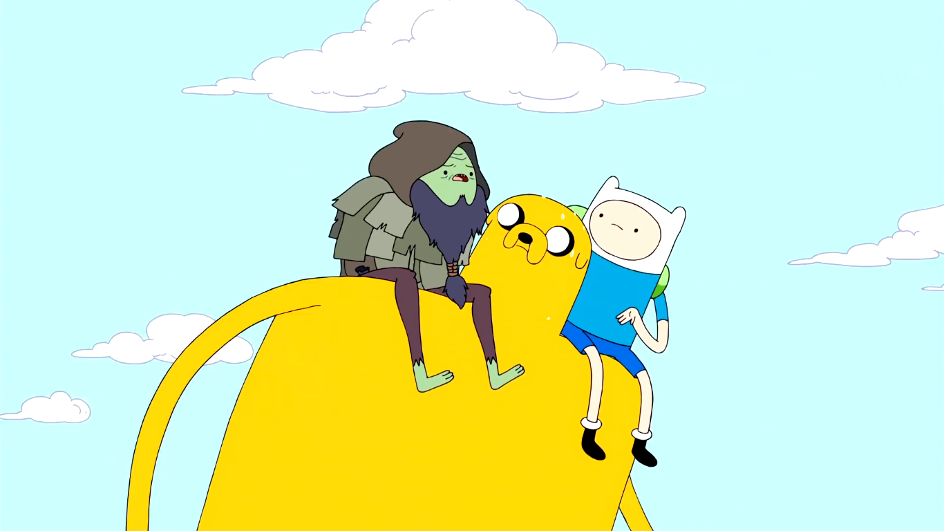 File:S3e3 Jake carrying Finn and Rag Wizard.png
