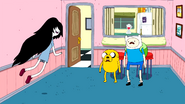 S3e3 Finn and Jake shocked at Marceline
