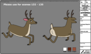 Huntress Wizard's Deer modelsheet