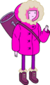 Princess Bubblegum in snow parka carrying bag.png