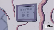 S2e22 labyrinth no cheating sign