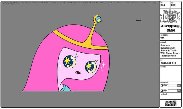 File:Modelsheet princessbubblegum inshortstshirt withstarryeyes - specialpose.jpg