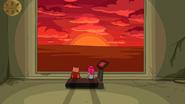 S6e23 Finn and PB watching virtual sunset