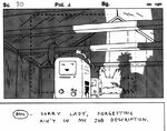 Storyboard s4e17 BMO in Lorraines chicken coop