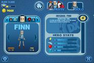 FusionFall Heros Finn stats