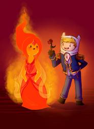 Finn flame princess by theziminvader-d5ewr44