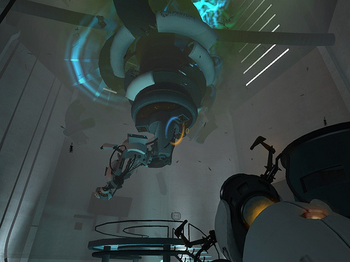 File:GLaDOS in trouble.jpg