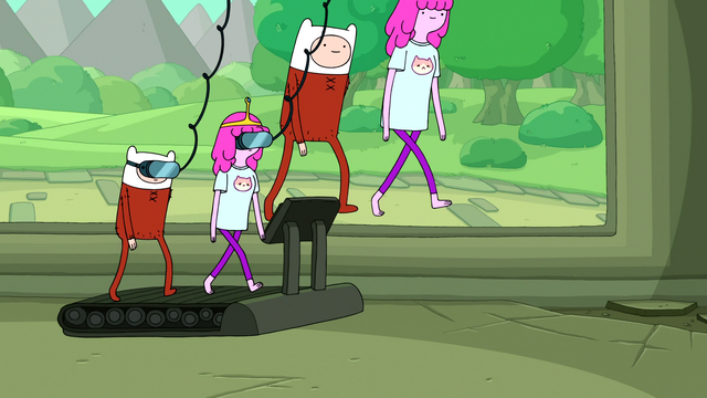 File:S6e23 Finn and PB going for a virtual walk.png