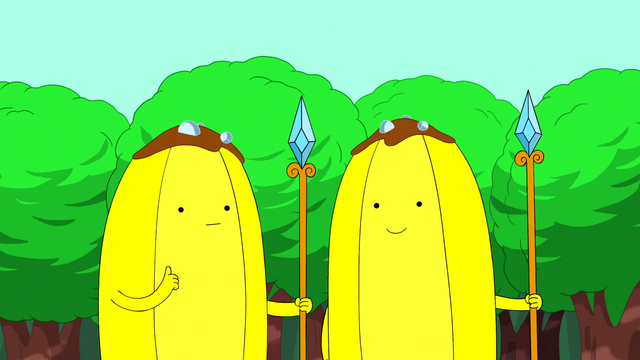 File:S3e11 Banana Guards thumbs up.png