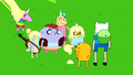 S6e12 Finn and Jake with Lady and her kids.png