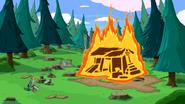 S5e32 cabin ablaze