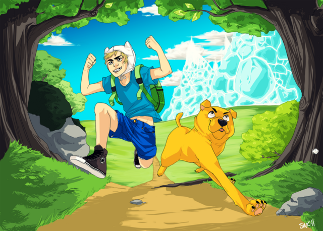 File:Adventure Time by Pan-cakez.png