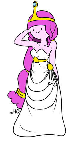 File:Princess bubblegum white dress by empty 10-d3fe5wd.png