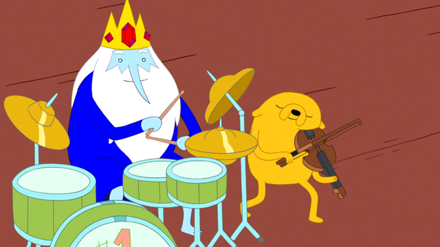File:S5 e5 Jake playing viola with Ice King playing drums.PNG