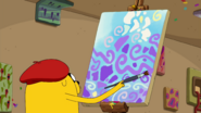 Jermaine painting Abstract Art (Jake's Dream)