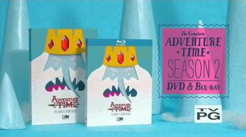 Adventure Time - Season 2 DVD and BD ad