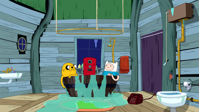 File:S6e15 Jake, Rattleballs, and Finn in tub.png