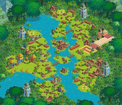 Golden Jungle Map