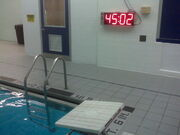 Shaler pool electronic clock