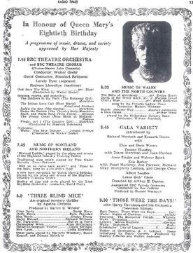 Three Blind Mice Radio Times Billing 1947